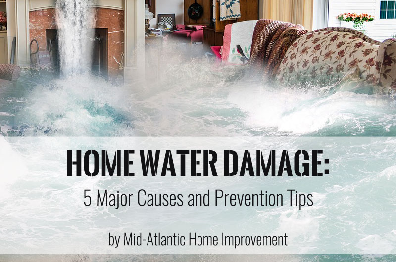 Home Water Damage: 5 Major Causes and Prevention Tips